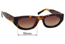 Sunglass Fix Replacement Lenses for Vehla Lotta VS186 - 51mm Wide