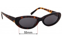 Sunglass Fix Replacement Lenses for Vehla Willow - 55mm wide
