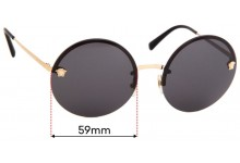 Sunglass Fix Replacement Lenses for Versace Mod 2176 - 59mm wide