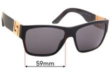 Versace MOD 4296 Replacement Sunglass Lenses - 59mm Wide