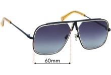 Vieux Hustle Replacement Sunglass Lenses - 60mm Wide