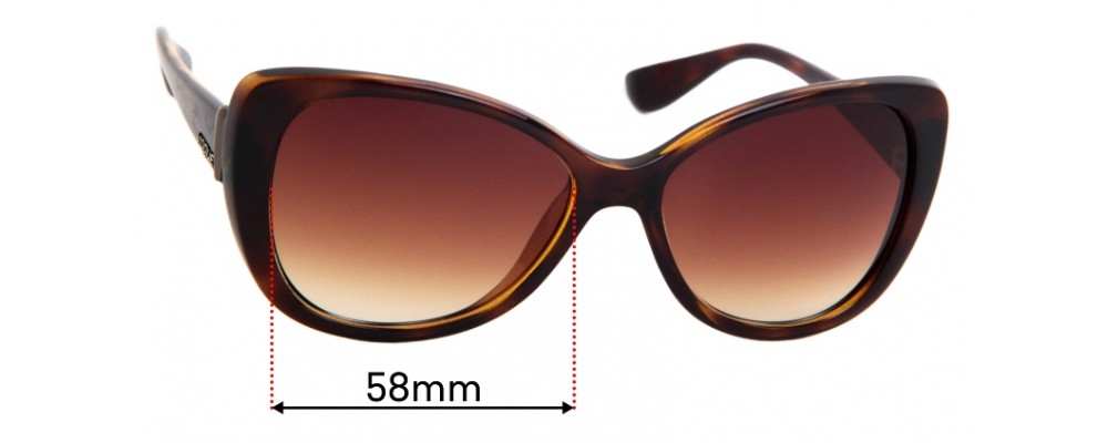 Sunglass Fix Replacement Lenses for Vogue 2939-S - 58mm Wide
