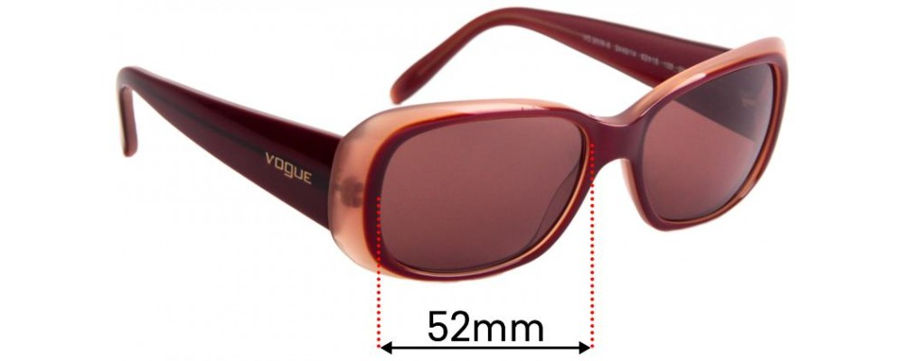 Vogue VO2606-S Replacement Sunglass Lenses - 52mm Wide