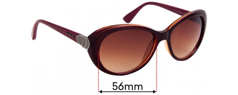 Sunglass Fix Replacement Lenses for Vogue VO2770-S - 56mm Wide