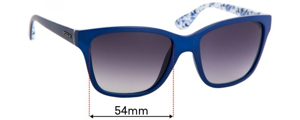 Vogue VO2896-S Replacement Sunglass Lenses - 54mm Wide