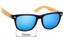 Wudn WPB1203 Replacement Sunglass Lenses - 55mm Wide