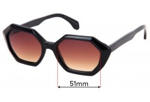 Sunglass Fix Replacement Lenses for Childe Snare - 51mm wide