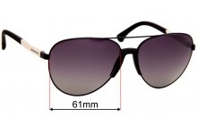 Emporio Armani EA2059 Replacement Sunglass Lenses - 61mm Wide