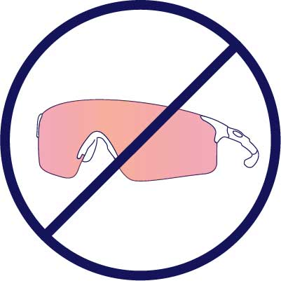 Sorry, we can not make single lenses that cover both eyes.