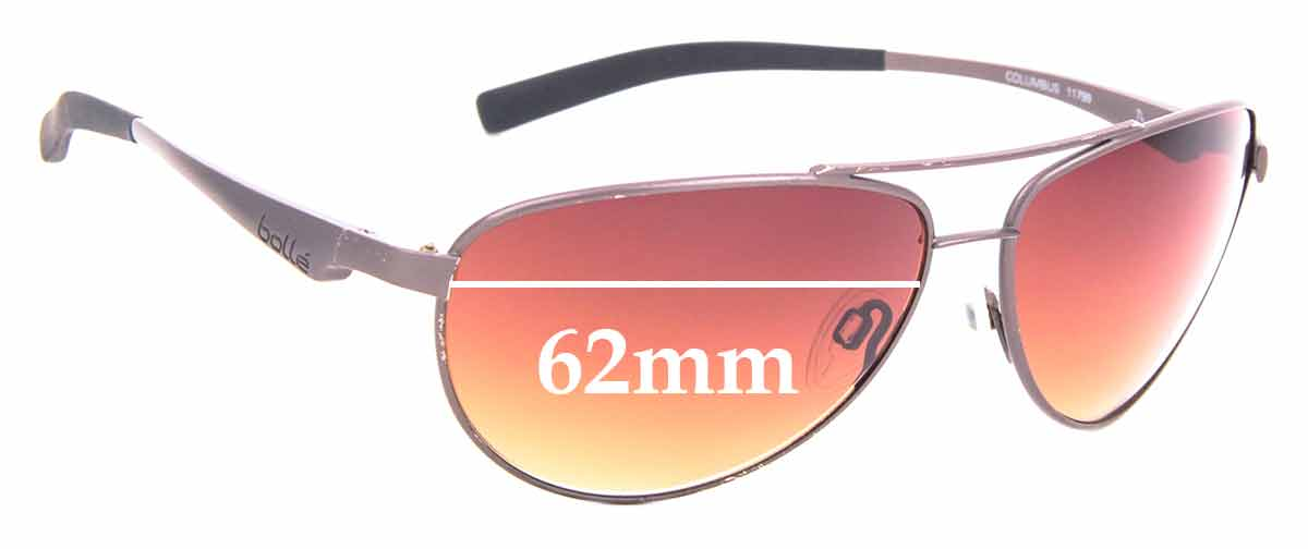 SFX Replacement Sunglass Lenses fits Bolle Aravis 62mm Wide