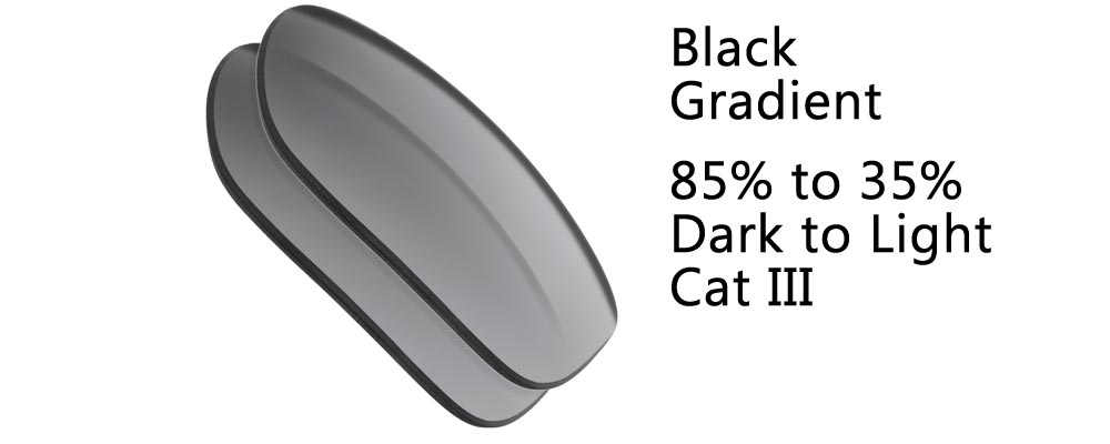 Black Gradient  Polarized and Regular Sunglass Replacement Lenses from The Sunglass Fix