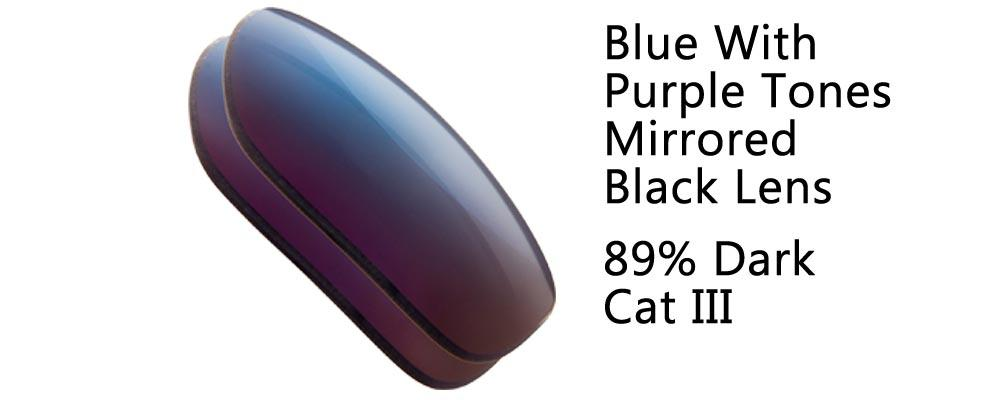 Flash Blue Mirrored Black Solid Polarized and Regular Sunglass Replacement Lenses from The Sunglass Fix