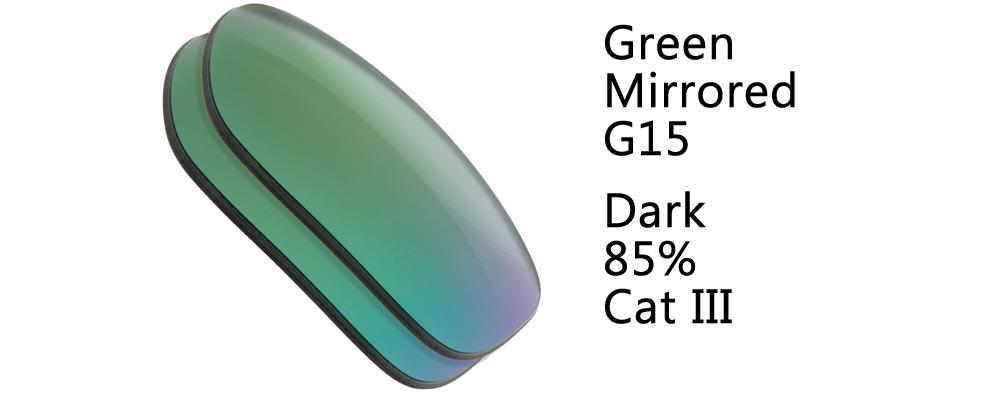 Green Mirrored G15 Sunglass Replacement Lenses from The Sunglass Fix