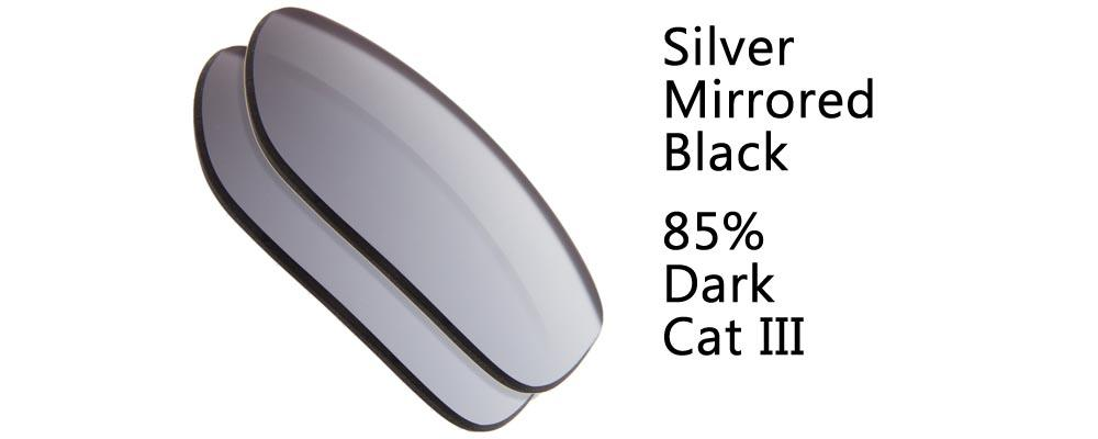Silver Mirrored Flash Black Solid Polarized and Regular Sunglass Replacement Lenses from The Sunglass Fix