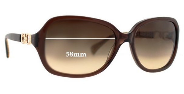 f1e71b670fbb9 ... usa lyst coach hc8019 beatrice sunglasses gradient in brown coach  beatrice replacement sunglass lenses 58mm wide