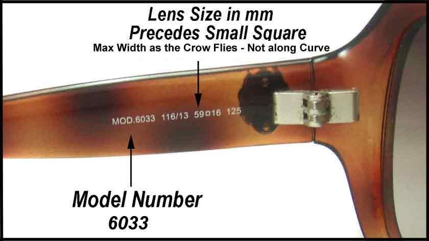 How to Find Your Model Name or Model Number on Your Sunglasses so you can get replacement lenses from The Sunglass Fix
