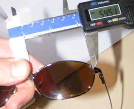 how to measure sunglass replacement lenses lens width with calipers