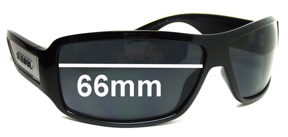 SFX Replacement Sunglass Lenses fits Diesel Alrar DS 0038 66mm Wide