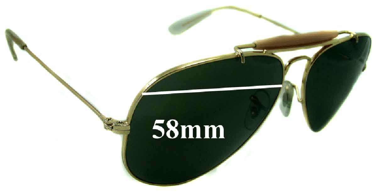 ray ban glass replacement  ray ban 3407 aviator replacement sunglass lenses rb3407 58mm wide
