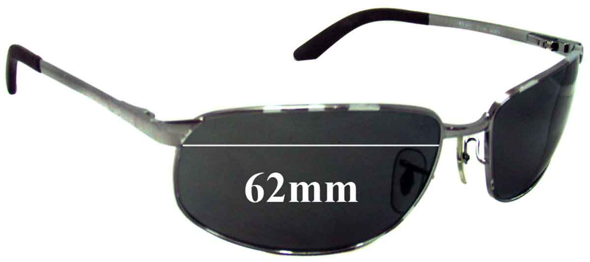 ray ban 3221  Ray Ban RB3221 Replacement Sunglass Lenses - 62mm Wide
