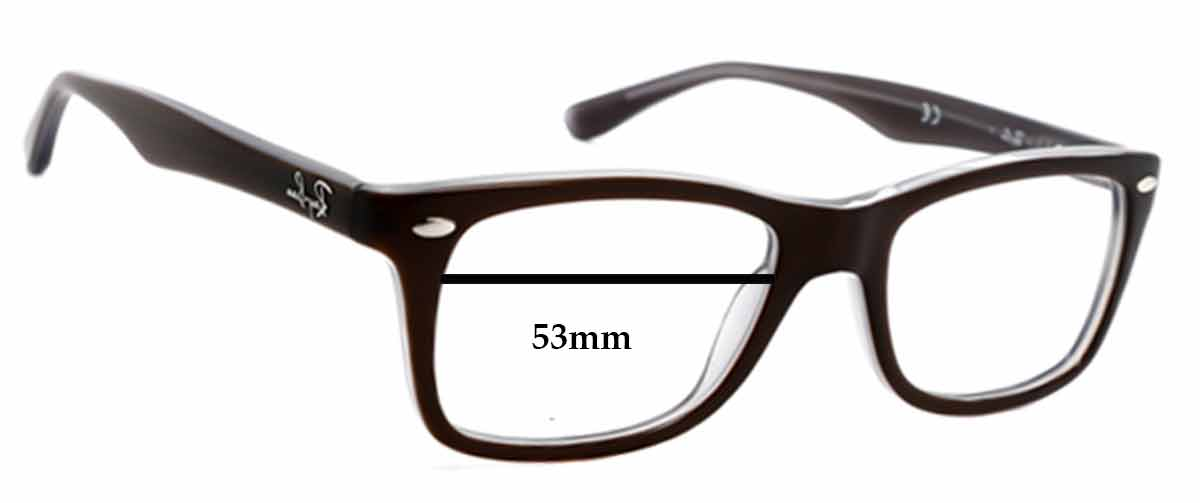 Ray Ban RB5228 Replacement Sunglass Lenses - 53mm wide