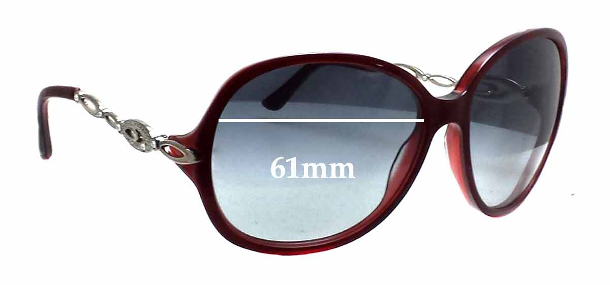 Bvlgari 8036-B Replacement Sunglass Lenses - 61mm wide