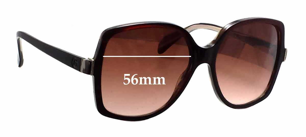 Giorgio Armani GA 850/S Replacement Sunglass Lenses - 56mm wide