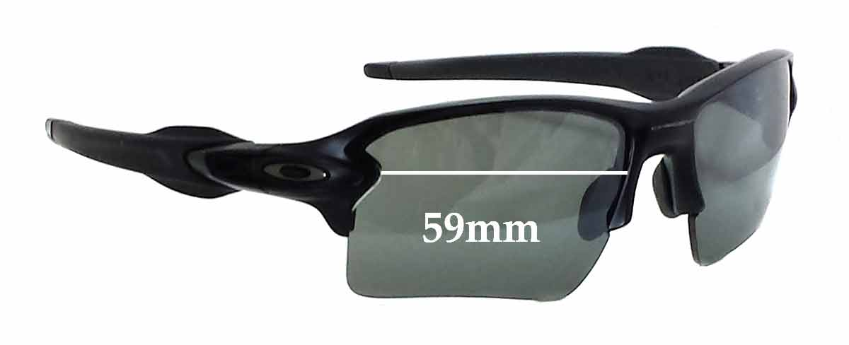 Oakley Flak 2.0 Replacement Sunglass Lenses - 59mm wide