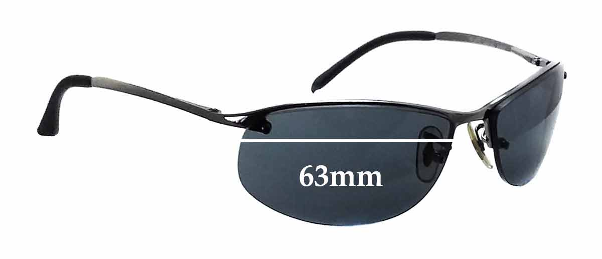 rb3179 polarized  Ray Ban RB3179 Replacement Sunglass Lenses - 63mm Wide