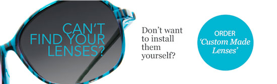 The Sunglass Fix is happy to install your sunglass lenses for you.